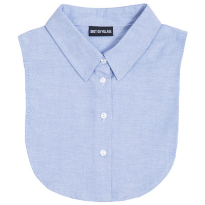 idiot du village los blauw kraagje bib collar blue