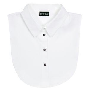 classic collar white black buttons idiot du village zwarte knoopjes wit los kraagje
