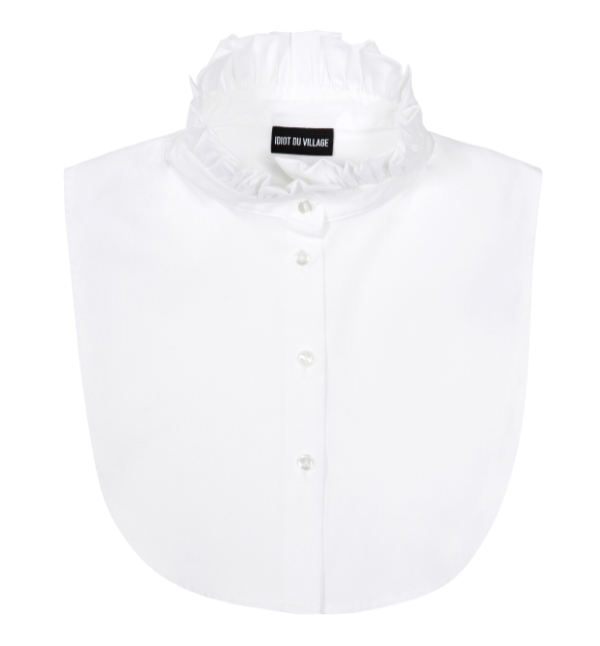 los kraagje met opstaande kraag idiot du village ruffle it up collar