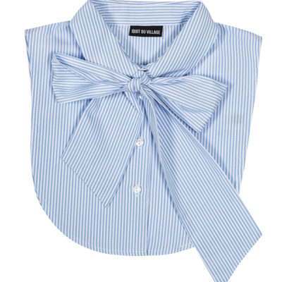 Pinstripe PUSSY BOW BLUE